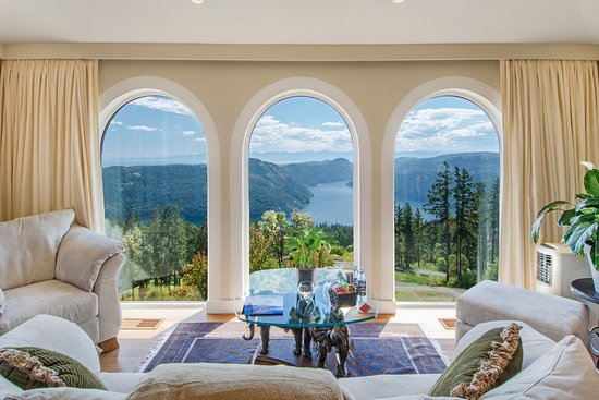 Malahat, Kanada: View from the Penthouse Suite of Villa Cielo
