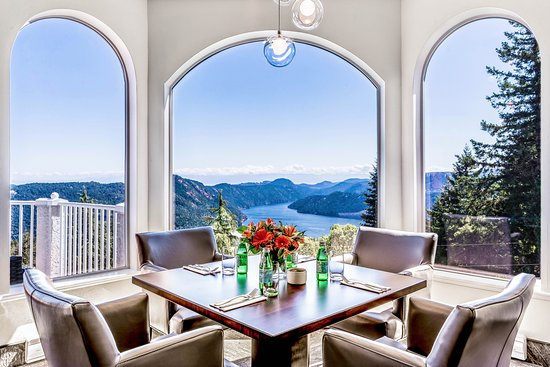Malahat, Kanada: View from the Driver's Lounge at the Villa Eyrie Resort