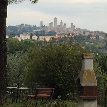 Casanova di Pescille: vue depuis l'agriturismo