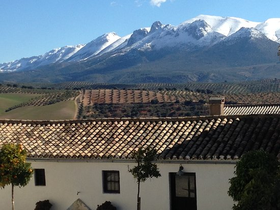 Albolote, España: View of snowy mountains in the background