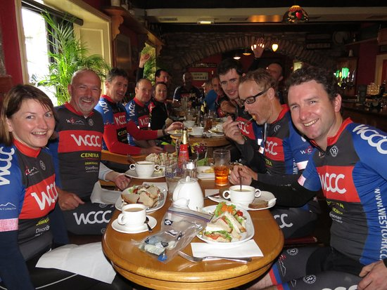 The Bold Thady Quill: Local bike group who welcomed us in the pub.