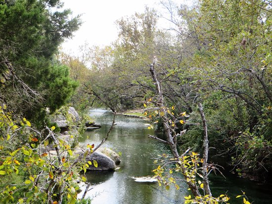 Jacob's Well Natural Area-Hays County Parks: view down the creek