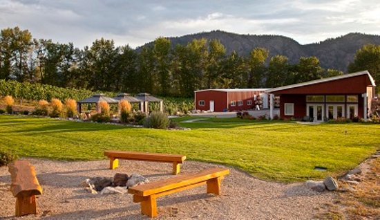 Okanagan Falls, Canadá: View of our bonfire and garden area.