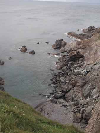 Helston, UK: Beach by old Lifeboat station at Lizard Point