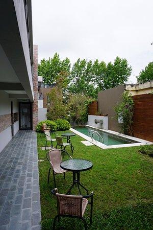Posada Las Terrazas: Lovely interior and garden pool area