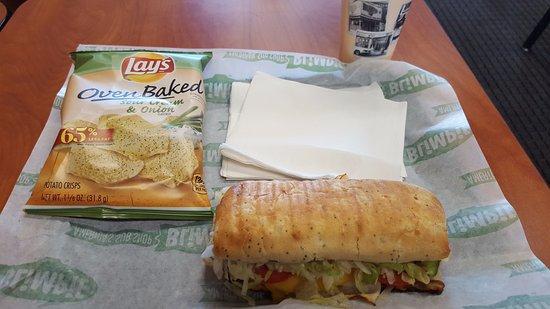 Windsor, CT: Turkey, Beef & Cheddar panini.