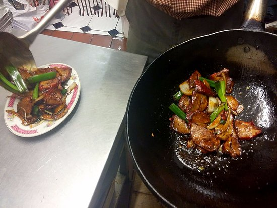 Sutton, UK: Roast Pork in Soy Sauce with Garlic and Chilli