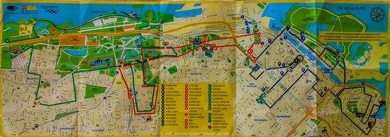mapa trajeto Mapa do Trajeto do BSAS Bus   Picture of Buenos Aires Bus, Buenos  mapa trajeto