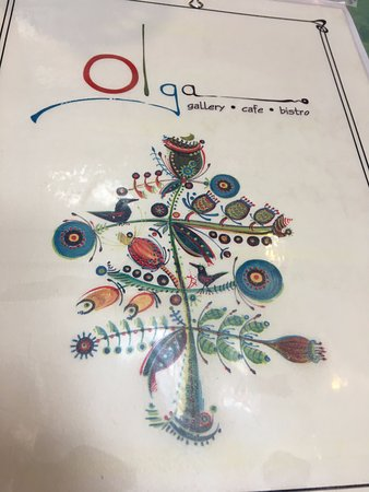 Coudersport, بنسيلفانيا: Here is a quick pic of some of Olga's artwork. It is EVERYWHERE.