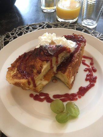 French toast stuffed with peach. One of my favorite meals in all of Woodstock.