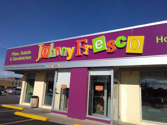 front view of Johnny Fresco