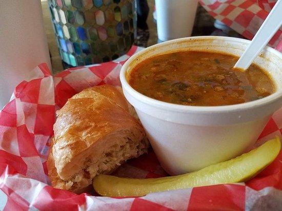 Dyersburg, TN: Chicken salad croissant && chicken chilli 👌
