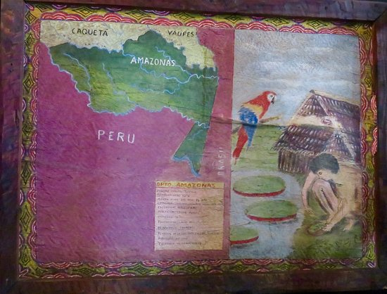 Amazon river map on the wall Picture of Tierras Amazonicas