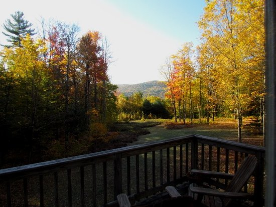 Newfane, VT: View from Main Floor of Fall Color