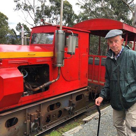 Tasmanien, Australien: The train engine