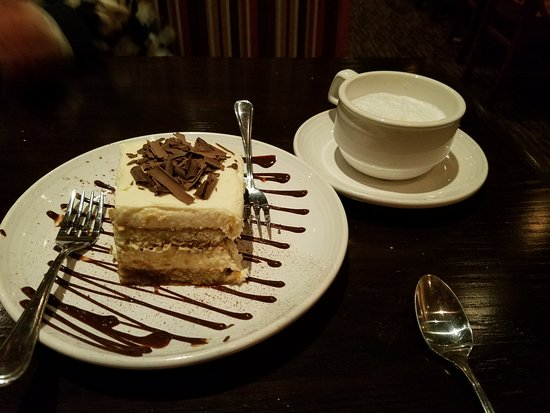 Smithtown, NY: Delicious Tiramisu (MUST HAVE!!!)$8.79 and capuccino $4.09
