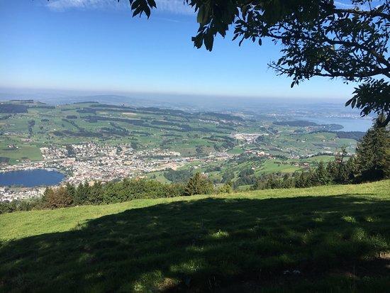 Kuessnacht am Rigi, Switzerland: Aussicht vom Wanderweg