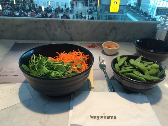 wagamama lunch was a bit more substantial underneath the green leaves love the