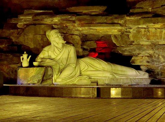 Jiujiang County, Kina: statue of Tao Yuanming