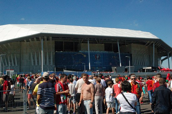 Decines-Charpieu, Francia: A stadion látképe
