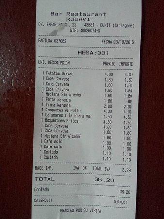 Cunit, İspanya: Buena relación calidad/precio