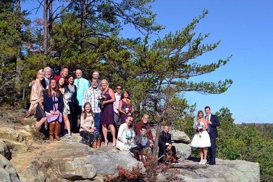 Monterey, TN: Group Wedding Photo at The Point