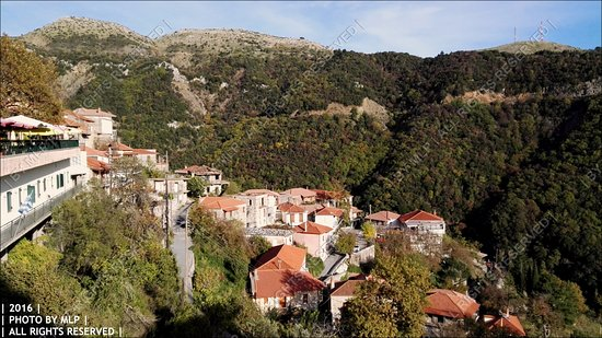 Langadhia, Greece: Θέα από το εστιατόριο
