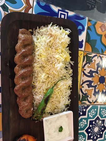 saffron rice and chello kebab