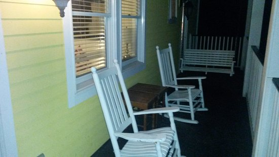 The Star: Private balcony with porch swing.