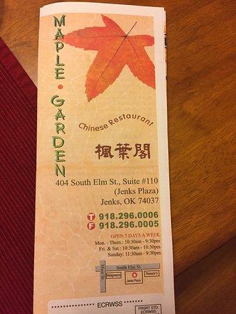 maple garden chinese restaurant the menu - Maple Garden Menu