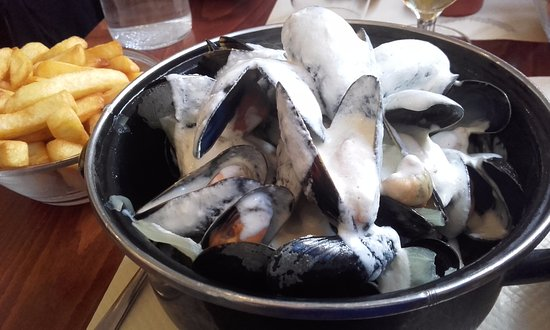 Veules-les-Roses, France : Moules normandes