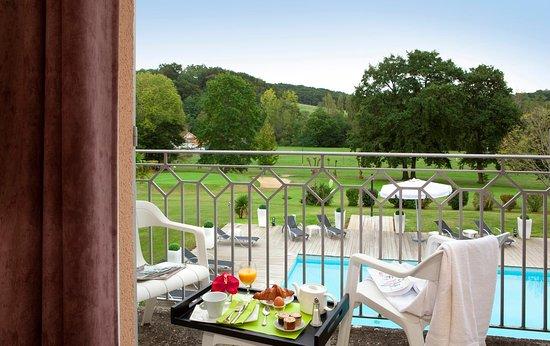Salies-de-Béarn, Francia: Vue des chambres