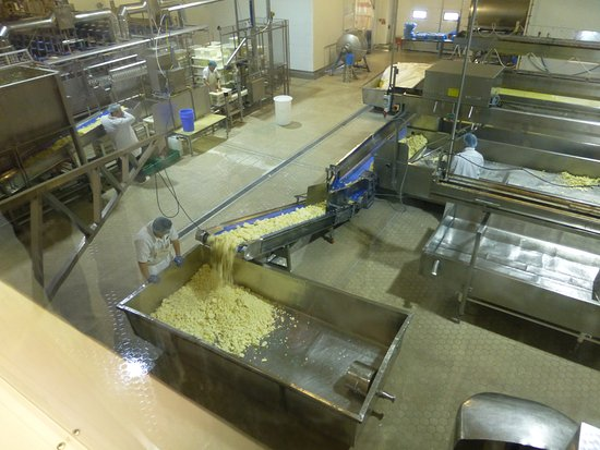 ‪‪Garstang‬, UK: Cheese Processing from the viewing gallery.‬