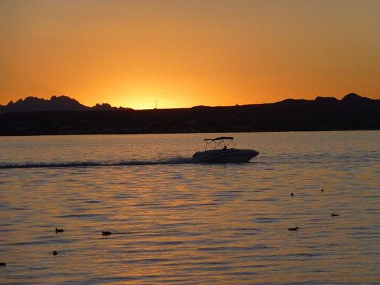 Lake Havasu City, AZ: Sunset at Lake Havasu State Park