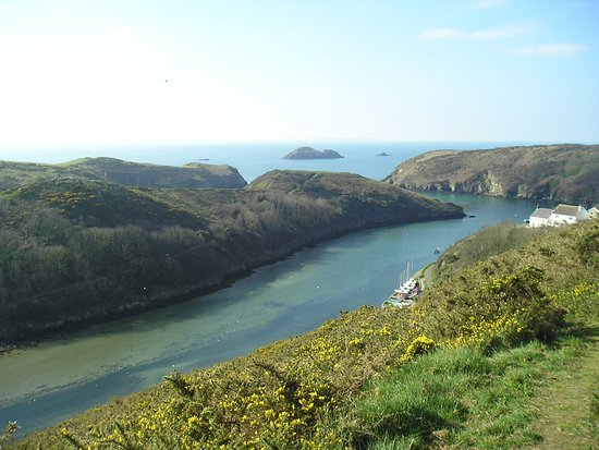 Solva, UK: View from the top of the hill walk