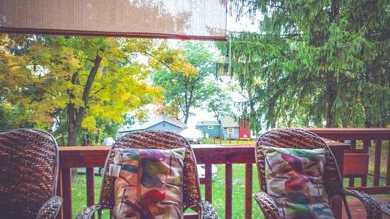 Finger Lakes, NY: Listening to the rain on the porch