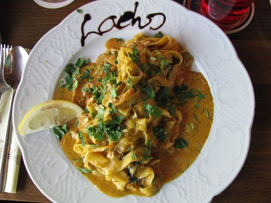 Am Mellensee, Germany: Pasta mit Lachs