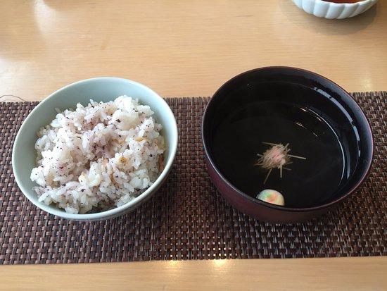 Ashiya-machi, Japón: ご飯とお吸い物