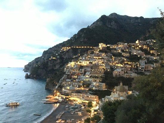 Hotel - Albergo California Positano: An early evening view.