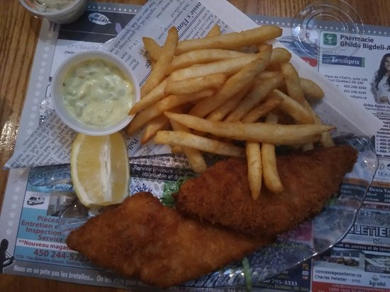 Cowansville, Canada: Fish and chips