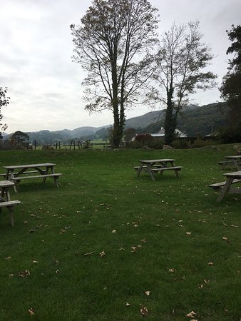 Pennal, UK: View from outside seating area