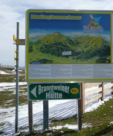 Sankt Margarethen im Lungau, Austria: Katschberg-Hinweis