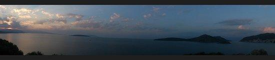 Asini, Griechenland: Panorama ze wzgórza