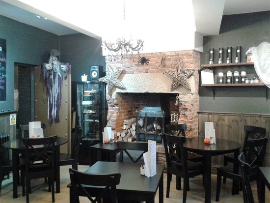 Interior of Cafe Vault, Morpeth on run up to Hallo'een