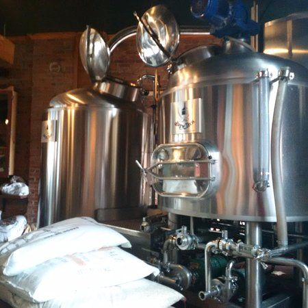 The Merchant Ale House: Stainless steel beer tanks