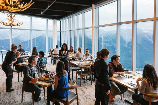 Sky Bistro Mountain Top Dining 2 900 Ft Above Banff