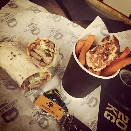 Steak and cheese wrap - Picture of Kettlebell Kitchen, Manchester ...