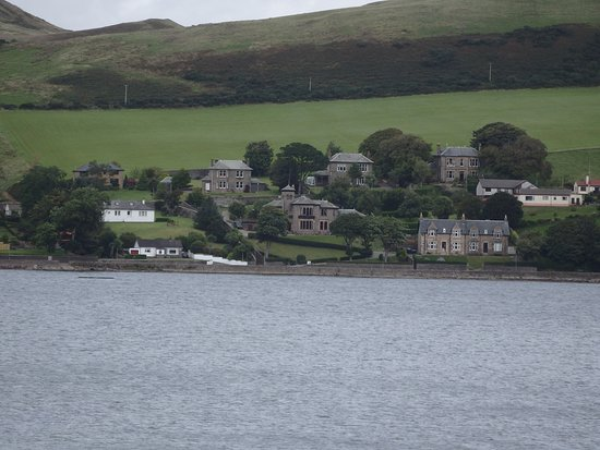 Campbeltown, UK: View of location from across the bay