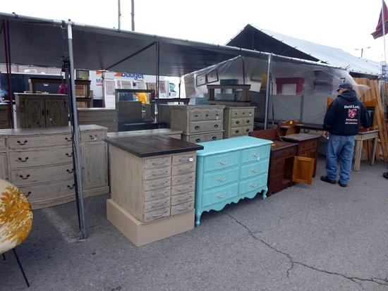 Nashville Flea Market: A Furniture Booth