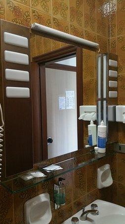 Hotel Barsotti: Specchiera bagno
